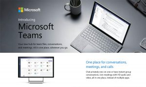 Microsoft Teams brochure.